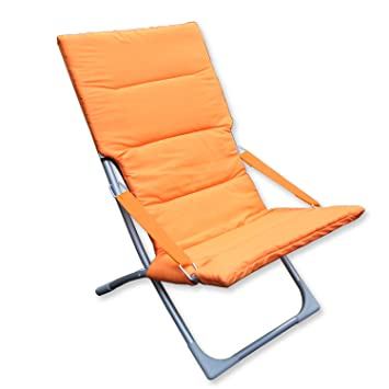 DOMI Madrid Relax Chaise Pliable Jardin Longue Dete Patio Plage Pliante Portable