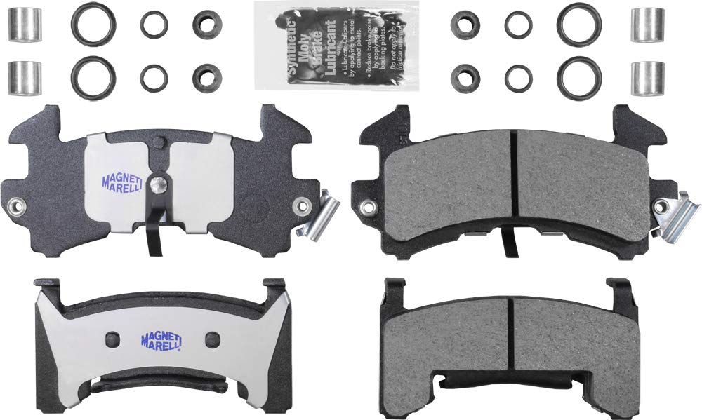 Magneti Marelli by Mopar 1AMV100154 Semi-Metallic Front Disc Brake Pad Kit 4 Pack