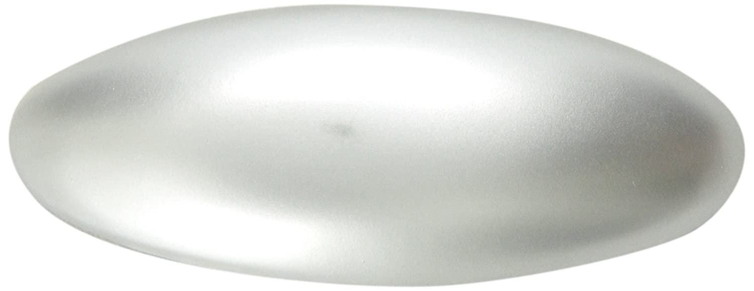 Caravan Small Oval Barrette with High Dome In Matt Silver or Matt Gold 8819