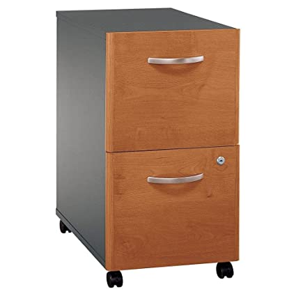 Bush Business Furniture Cherry U0026 Black File Cabinet W Locking Drawer    Series C