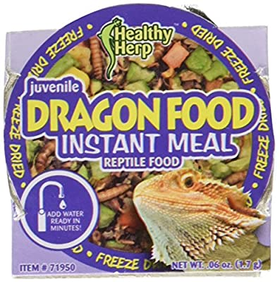 San Francisco Bay Brand SSF71950 0.06-Ounce Healthy Herp Dragon Food Juvenile Instant Meal, Small