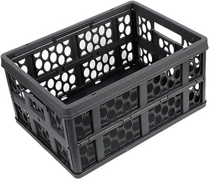 Amazon.es: Negro plástico sostenedor de la fruta vegetal caja de ...