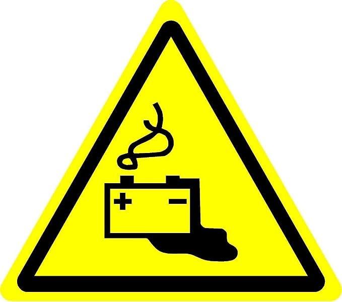 ISO Sicherheitsaufkleber Sign - Internationale Batteriewarnung Lade ...
