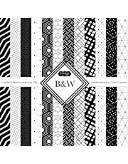 Scrapbook Customs Themed Paper Scrapbook Kit, Black & White