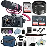 Canon EOS M6 Digital Camera Video Creator Kit W/EF-M 15–45mm f/3.5–6.3 IS STM Lens + Canon M6 Advanced Accessory Bundle - M6 Canon Mirrorless Camera Kit Includes EVERYTHING You Need To Get Started