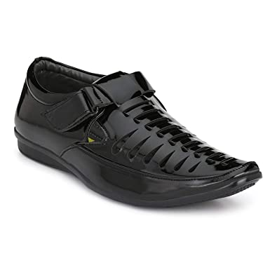360c2e5e7681e1 BUCADIA Men Fashion Outdoor Formal Casual Ethnic Loafer Sandal Shoe Black