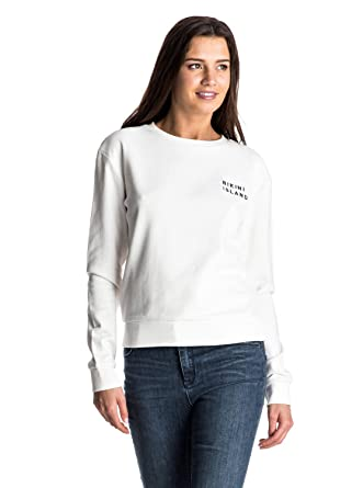 5642a5cc430 Roxy Womens Roxy Going My Wave - Sweatshirt - Women - S - White Marshmellow  S