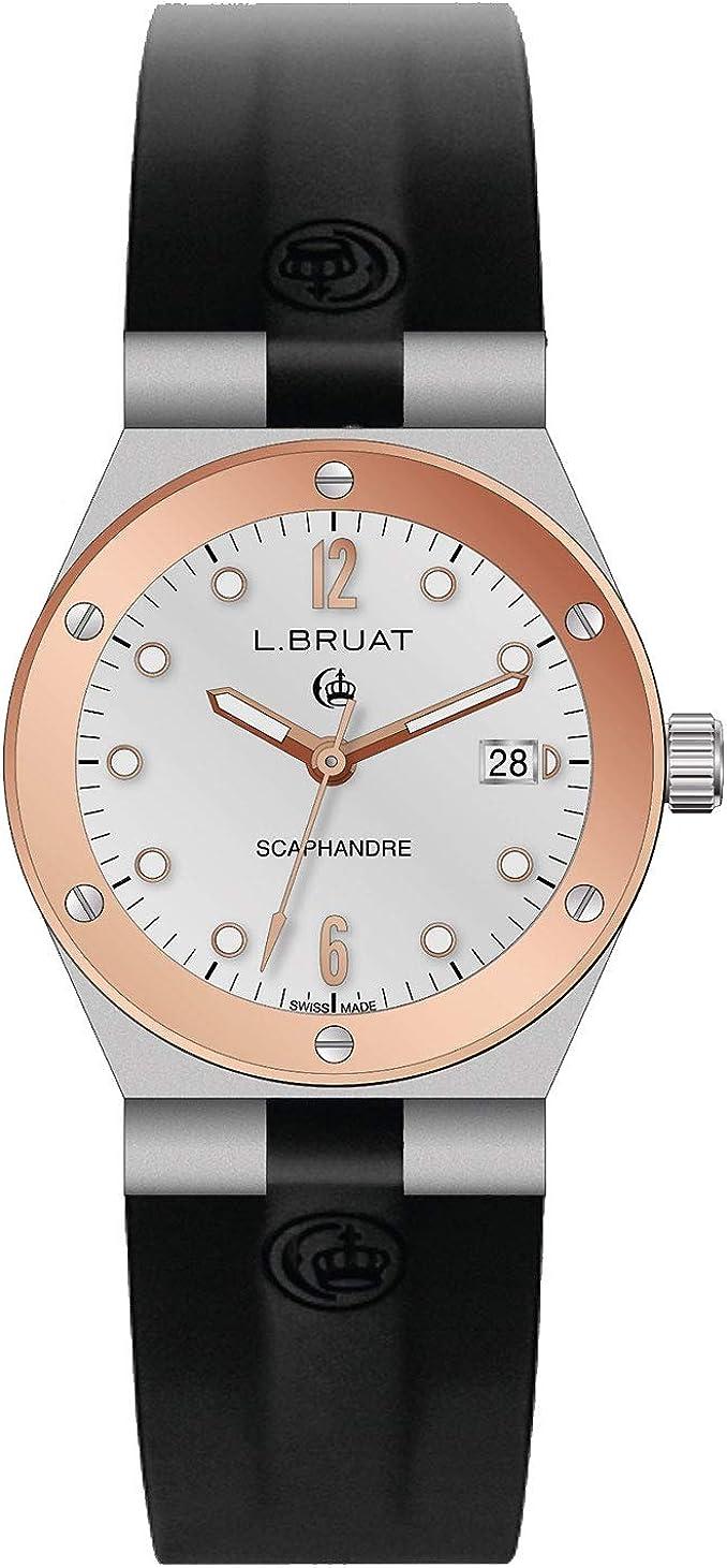 L. Bruat 406021/22 - Reloj analógico de cuarzo para mujer