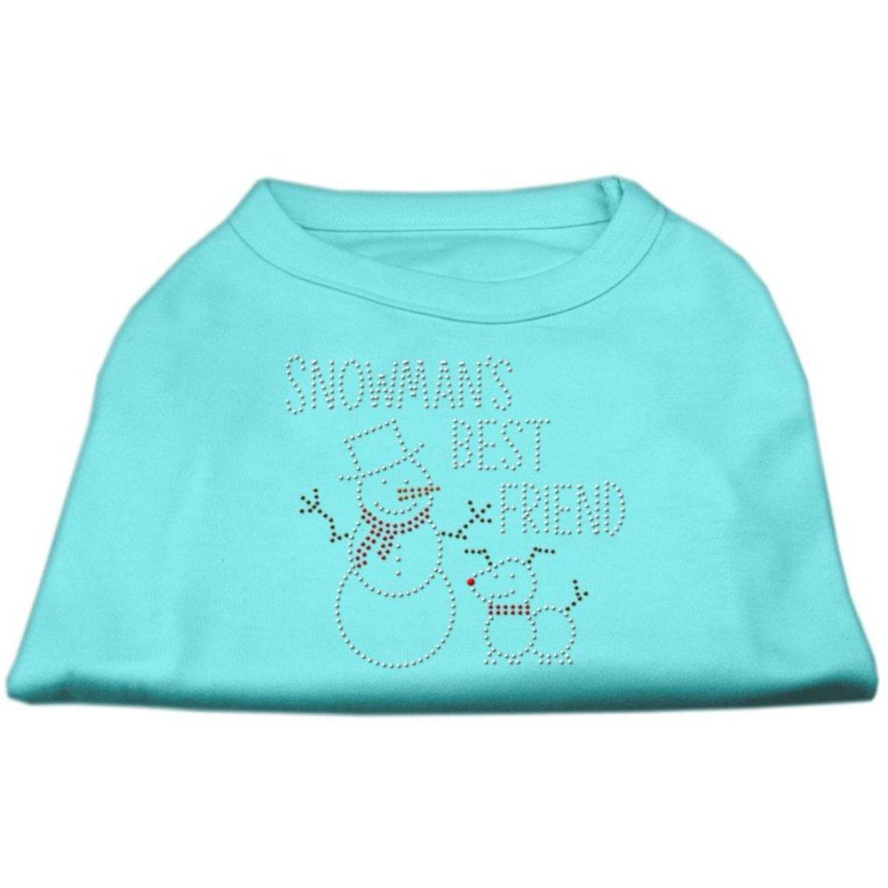 Dog   Cat   Pet Charms Snowman's Best Friend Rhinestone Shirt Aqua S (10)