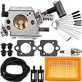 Dalom BR420 Carburetor Kit with Cleaner Cleaning Tool Fuel Line Filter Air Filter For Stihl SR320 SR340 SR380 SR400 SR420 BR320 BR340 BR380 BR400 BR420 Backpack Blower
