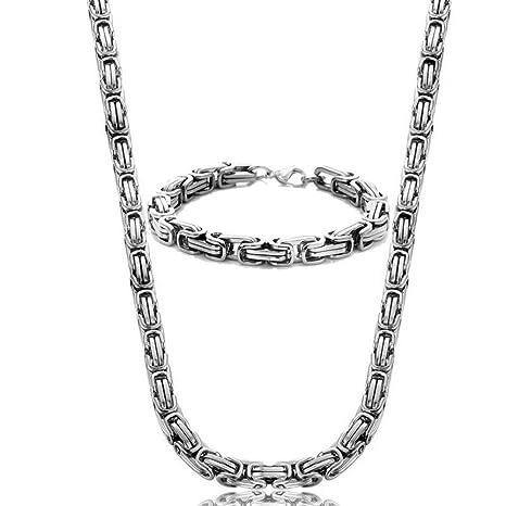 Amazon.com: Reizteko - Juego de collar y pulsera de cadena ...