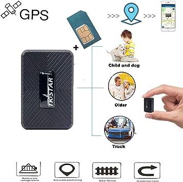 MUXAN TKSTAR Mini GPS Tracker, GPS en Tiempo Real antirrobo de cinturón con Tarjeta SIM en General, localizador con aplicación Gratuita antirrobo para Moto de Coche (TK913): Amazon.es: Electrónica
