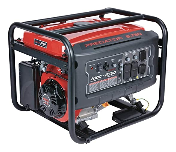 Predator Portable Generator 8750 Peak 7000 Running Watts And Generator Wheel Kit