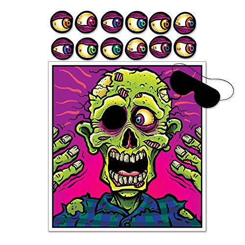 Halloween Party Game PIN The Eyeball on The Zombie for 12 Guests by Rocky's Rocket]()