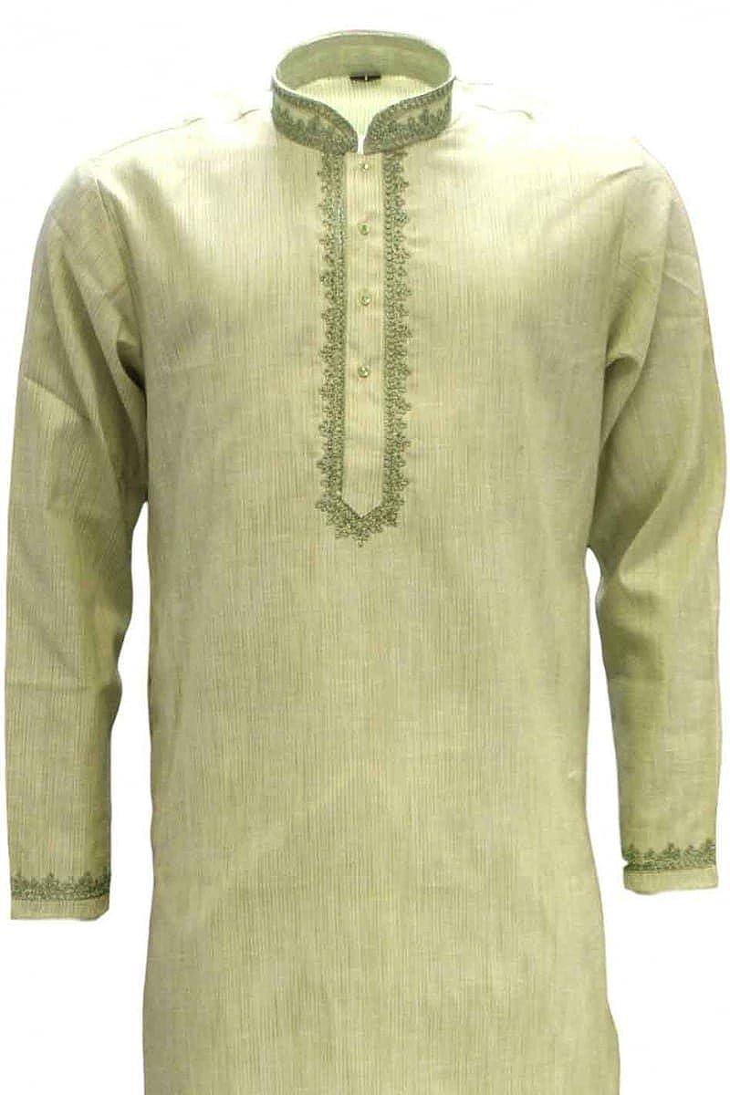 MKP3254 Verde oliva y marfil hombres Kurta pijama Indian Bollywood Suit Sherwani: Amazon.es: Ropa y accesorios