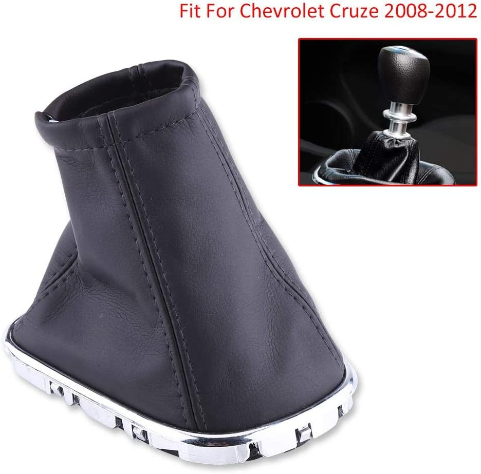 Car Gear Shift Knob Dust Cover Black PU Leather Boot Cover for Chevrolet Cruze 2008-2012