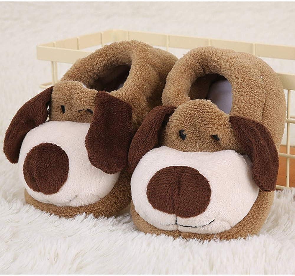 Pantuflas infantiles de peluche para el invierno, diseño de animales, antideslizantes, zapatillas de interior para niñas, niños, viajes, oficina, Navidad