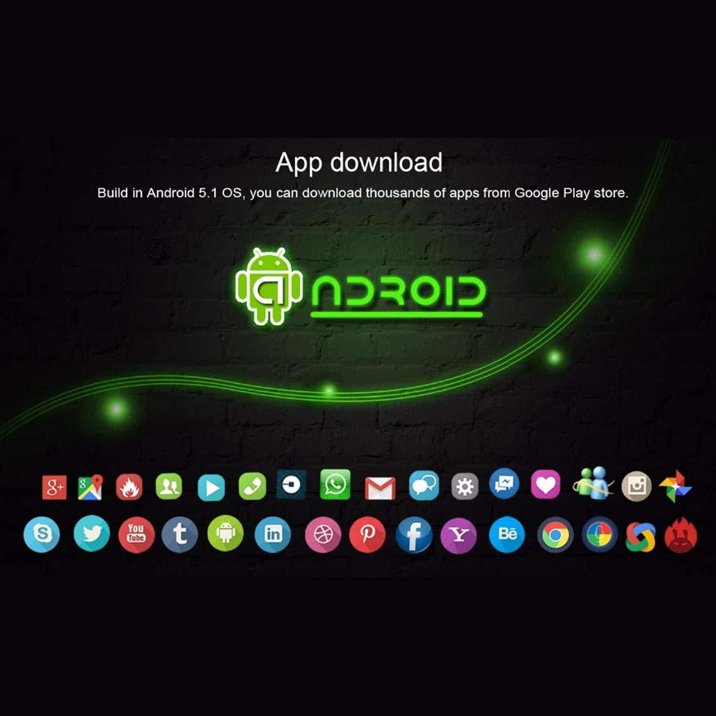 YUNDING Reloj Inteligente con Teléfono Móvil Android, Internet/App ...