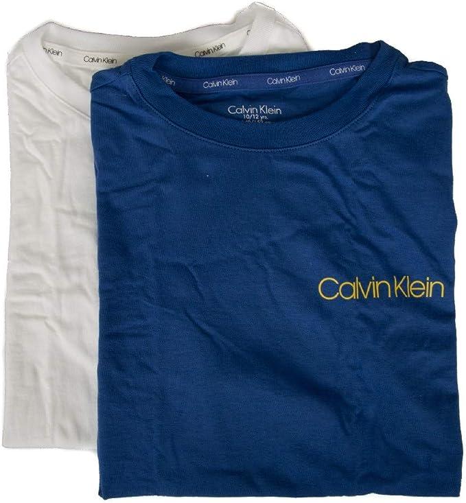 Calvin Klein Pack de 2 t-Shirt Camisetas Cuello Redondo Manga Corta niño bipack Underwear CK Articulo B70B700213 Boys 2 Pack Tees: Amazon.es: Ropa y accesorios