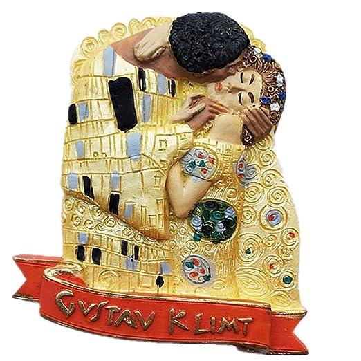 MUYU Magnet 3D Kiss Famoso Pintura de Gustavo Klimt Viena Austria ...