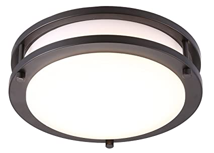 cloudy bay led flush mount ceiling light 10 inch 17w 120w