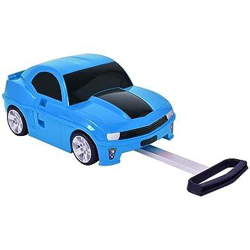 1322c4b68 Equipaje Maleta Con ruedas para niños en la forma de coche Viaje caja juguete  adorable 3 colores (Azul): Amazon.es: Equipaje