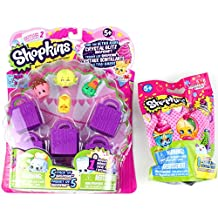 Shopkins Bundle of 2 Items - Season 2 5 Pack and Plush Hanger