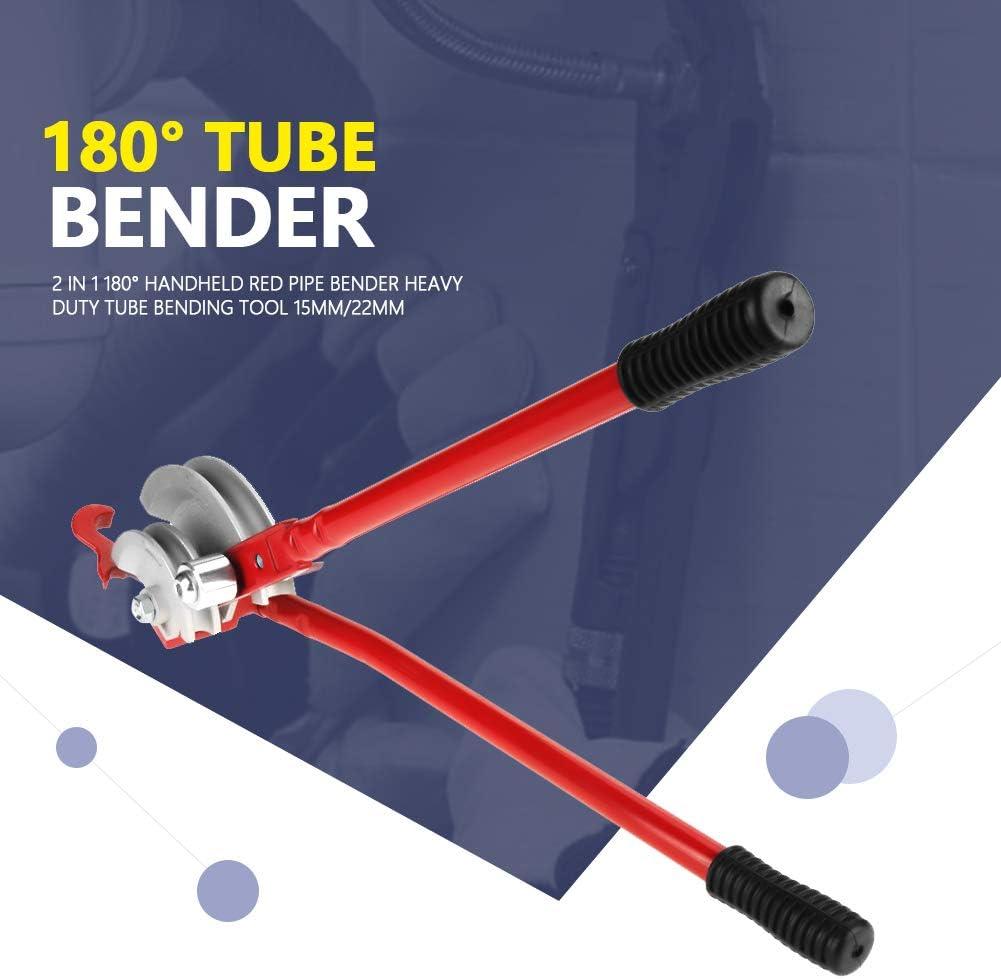 Pince /à cintrer 2/en 1/180//° /à main Rouge /à cintrer Heavy Duty Tube Outil de cintrage 15/mm//22/mm