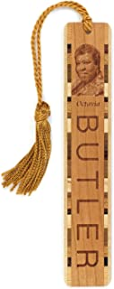 product image for Author, Octavia Butler Photo - Engraved Wooden Bookmark with Tassel