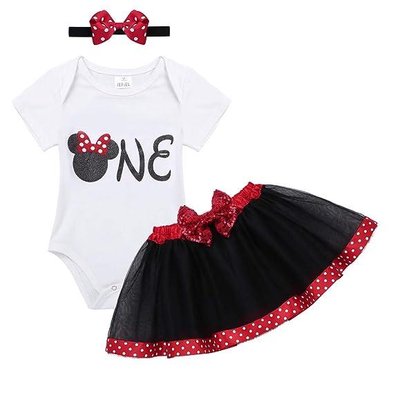 iEFiEL Disfraz de Bebé Niña Pelele con Falda tutú para Primer Cumpleaño Halloween Bautizo: Amazon.es: Ropa y accesorios