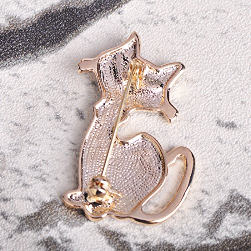 MECHOSEN Fashion Blue Eyes Leopard Cat animal Brooches Pins For Sweater girl Collar Bag Accessories Gold Color Clips Enamel Women Jewelry by MECHOSEN (Image #4)