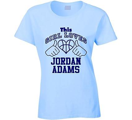 e50fb2a41e2f9e Jordan Adams This Girl Loves Heart Memphis Basketball T Shirt S Light Blue