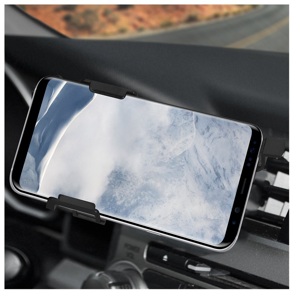 Air Vent Mount AMZ202306 AMZER Slim Swiveling Air Vent Vehicle Car Truck Mount Holder Mount for Samsung Galaxy S8