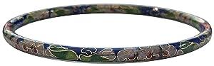 Blue Cloisonné Bangle Bracelet