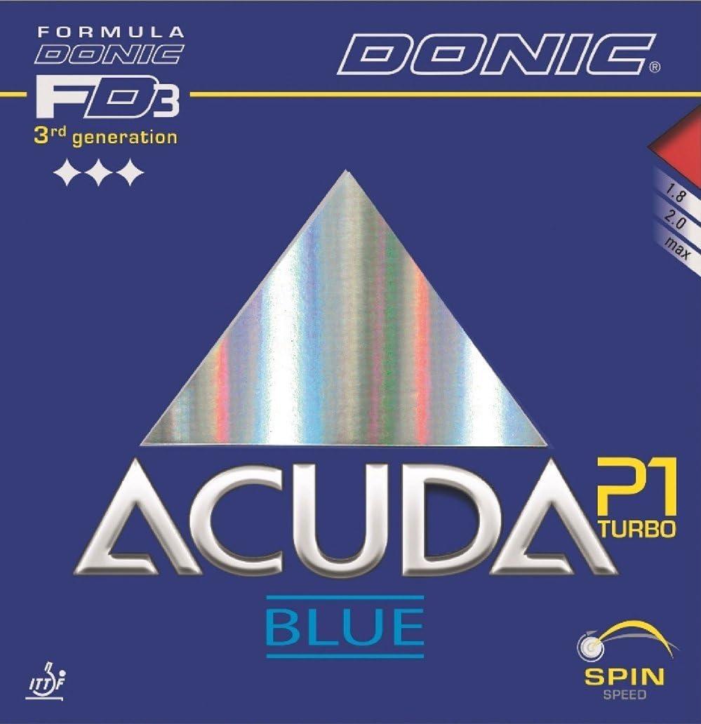 Tenis de mesa goma Donic Acuda azul P1Turbo, Max, negro