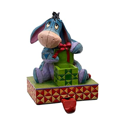 enesco disney traditions designed by jim shore christmas eeyore stocking hanger figurine 6 in