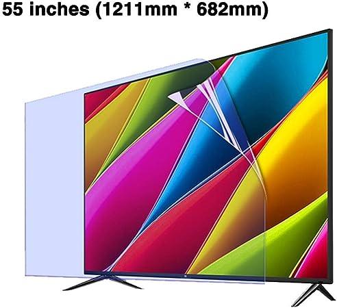 CUUYQ 55 Pulgadas Protector de Pantalla de TV, Antideslumbrante Ultra-Clear Film Protector Anti Luz Azul Antiarañazos Protección para los Ojos para LCD, LED, OLED y QLED 4K HDTV,A: Amazon.es: Hogar
