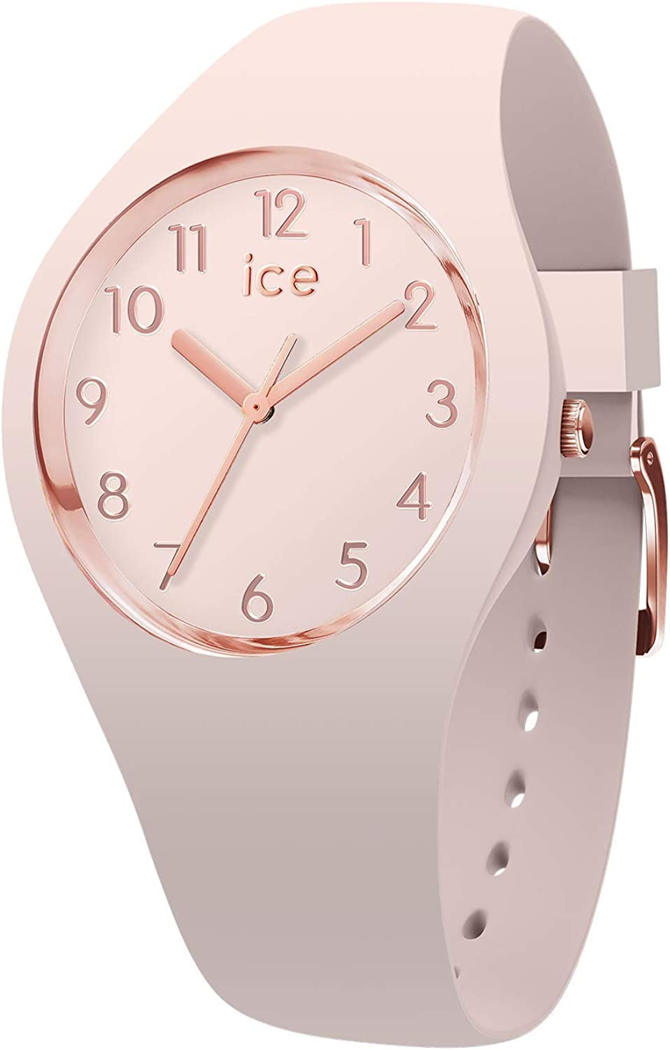 Ice-Watch - ICE glam colour Nude - Reloj rosa para Mujer con Correa de silicona - 015330 (Small)