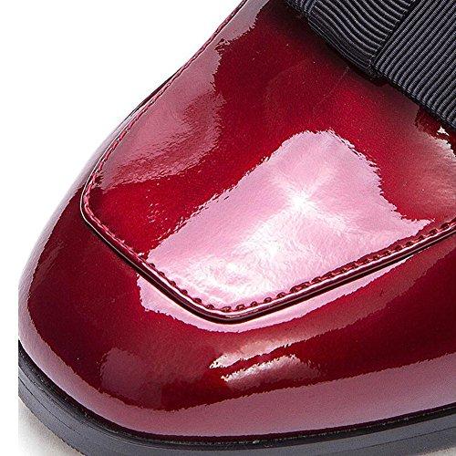 casual EU36 con 5 bocca scarpe nbsp;cm testa 5 UK4 nella taglia Rosso tacchi colore da quadrata alti scarpe CN36 donna ruvida Wyyy 8fqgYH