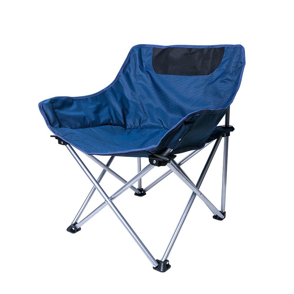 Outdoor folding chair YNN Ausrüstungs-Schemel-Klappstuhl-tragbare leichte einfache Fischersitz-kampierende Garten-Stühle im Freien (Farbe : Blau)