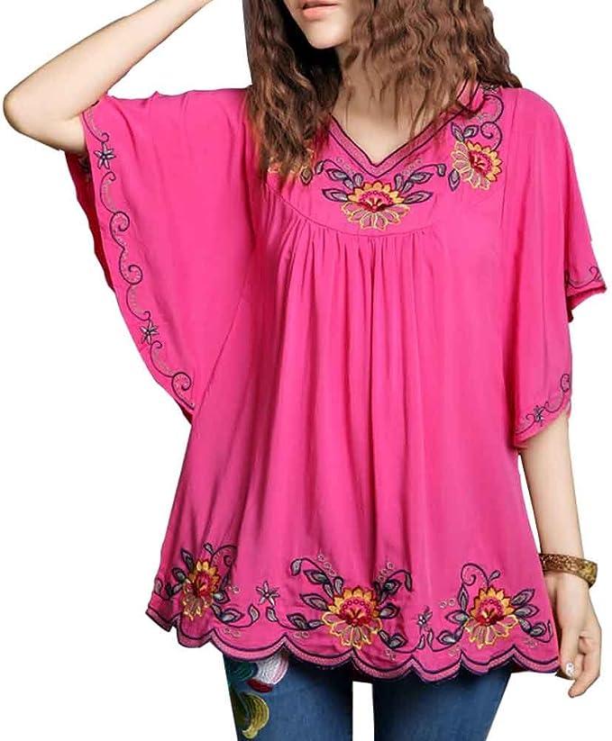 Amazon.com: Ashir Aley blusa con mangas envolventes y ...