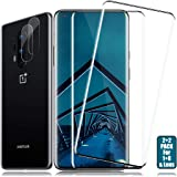 OnePlus 8 Screen Protector + Camera Lens Protectors By BIGFACE, [2 + 2 Pack] HD Clarity Full Coverage Premium Tempered Glass,