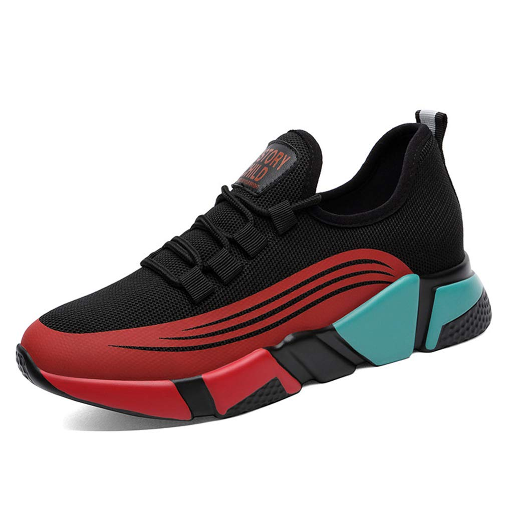 A Women's Casual shoes Low-Top Sneakers Breathable Running shoes Lightweight Sports shoes Wedge Heel shoes,A,38