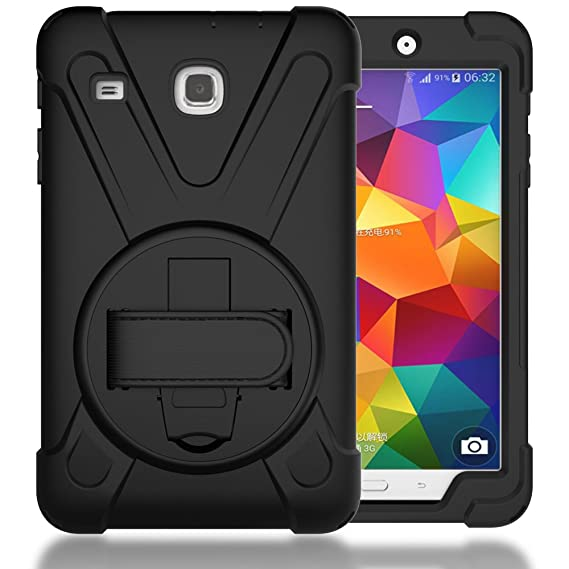 official photos fbdd8 aa4ea TIMISAM Samsung Galaxy Tab E 8.0 Case, Heavy Duty Hybrid Shockproof  Protection Cover Built with Kickstand and Hand Strap for Samsung Galaxy Tab  E 32GB ...