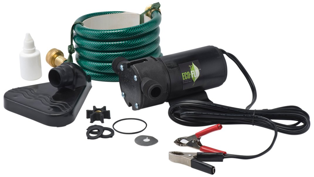 ECO-FLO Products PUP61DC 12 Volt Water Transfer Pump Kit, 1/12 HP, 360 GPH