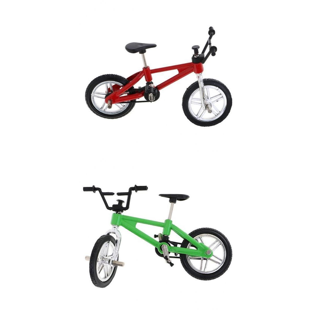 MagiDeal 2x Mini Alloy Finger Bike Model Mountain Bike Bicycle Toy Collectible Gift STK0119398513