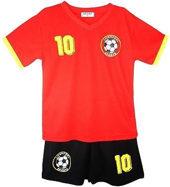 Football Kit T-Shirt Shorts Set Vest Top Summer New Boys Girls Size 2-14 Years