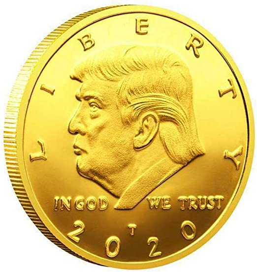 24k 999 Gold Plated Metal Coin Home Decorative Trump Commemorative Gift Coin