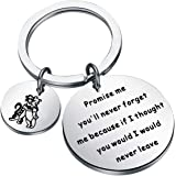 BAUNA Pooh and Tigger Gift BFF Keychain Promise Me You'll Never Forget Me Because IF I Thought You Would I Would Never…