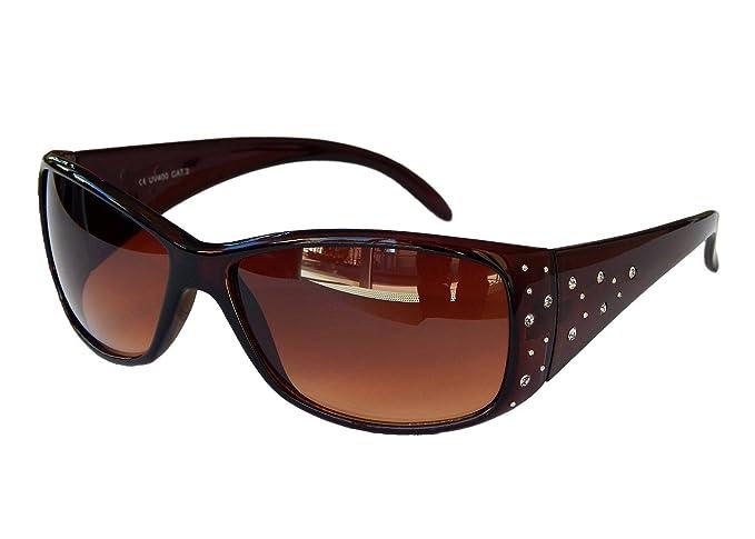 Damenbrille Brille Sonnenbrille mit Strass Damen Sunglasses M 39 (Schwarz) s6Qjnx